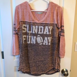 Maurice's Sunday Funday 3/4 Sleeve Tee